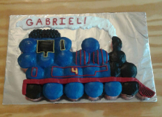 Thomas Engine Cupcake Cake