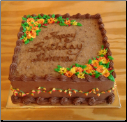 Flowers and Leaves - German Chocolate