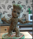 Baby Groot Cake Topper