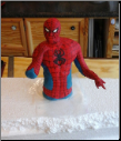 Spiderman Handmade Cake Topper