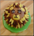 Lion Face Baby Cake