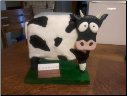 3-D Surprised Cow