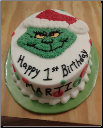 Grinch Baby Cake